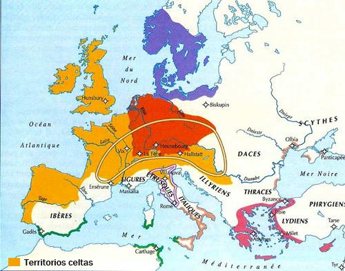 Territorios Celtas en Europa - Galia, historia de Francia