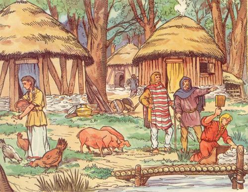 Vida en una aldea gala